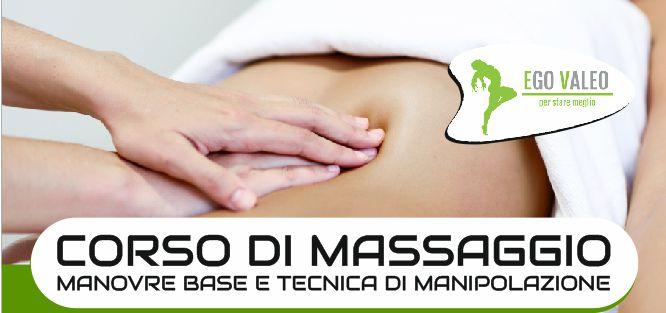 Corso di massaggio 2019 – Manovre base e tecniche di manipolazione