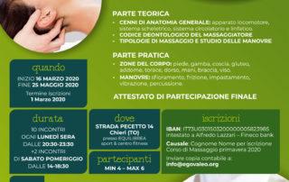 corso di massaggio chieri